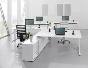 anordnung eines Großraumbüros