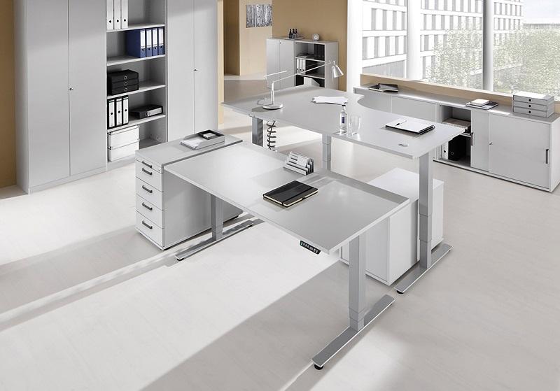 schreibtisch materialien holz glas stahl oder beton. Black Bedroom Furniture Sets. Home Design Ideas