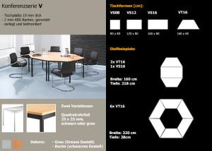 Konferenztisch Serie V in vielen Varianten: Schreibtisch-Design mit unterschiedlichen Anwendungsmöglichkeitenen