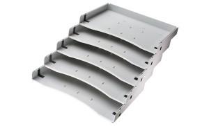 Schrägablage für den Schreibtisch-Container: optimal für Dokumente im DIN A4-Format